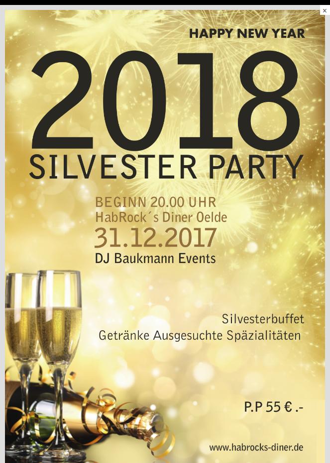 Silvester Party 2018 im Habrock's Oelde